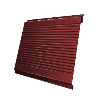 Вертикаль 0,2 Grand Line gofr 0,5 Velur с пленкой RAL 3009 оксидно-красный