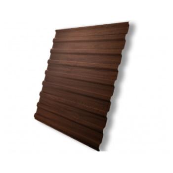 Профнастил С20 Choco Wood