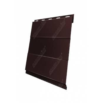 Вертикаль 0,2 Grand Line prof 0,5 Quarzit с пленкой RAL 8017 шоколад