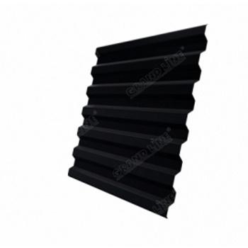 Профнастил С21R RAL 9005 черный